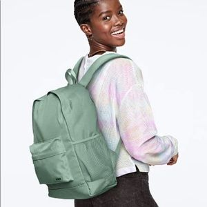 NWT PINK classic campus backpack in sea salt green